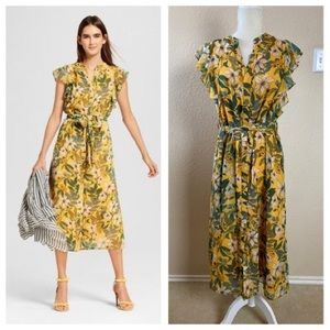 Who What Where Target Yellow Floral Midi Dress